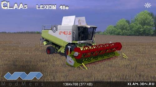 Claas Lexion 480 New textūres by ModMens